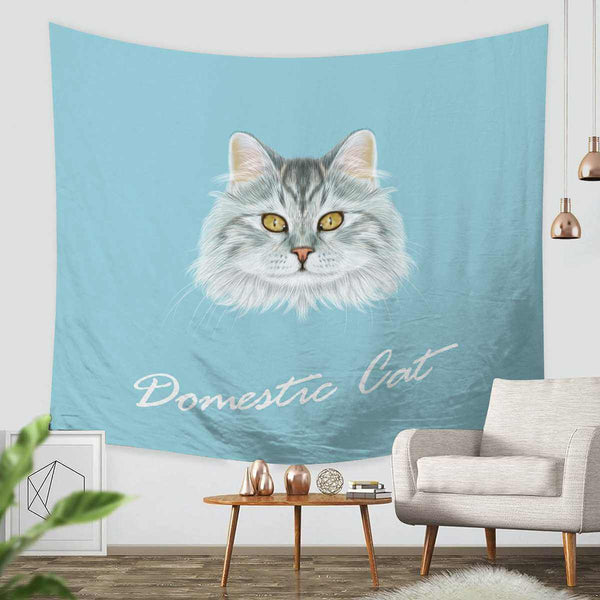 3D Custom Cat Tapestry Throw Wall Hanging Bedspread - Three Lemons Hometextile