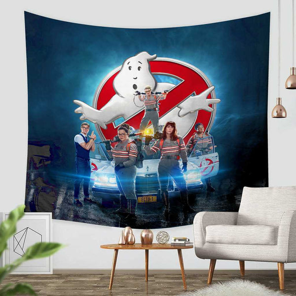 3D Custom Ghostbusters Tapestry Throw Wall Hanging Bedspread - Three Lemons Hometextile