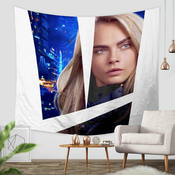 3D Custom Valerian and the City of a Thousand Planets Throw Wall Hanging Bedspread - Three Lemons Hometextile