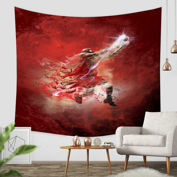 3D Custom Michael Jordan Tapestry Throw Wall Hanging Bedspread - Three Lemons Hometextile