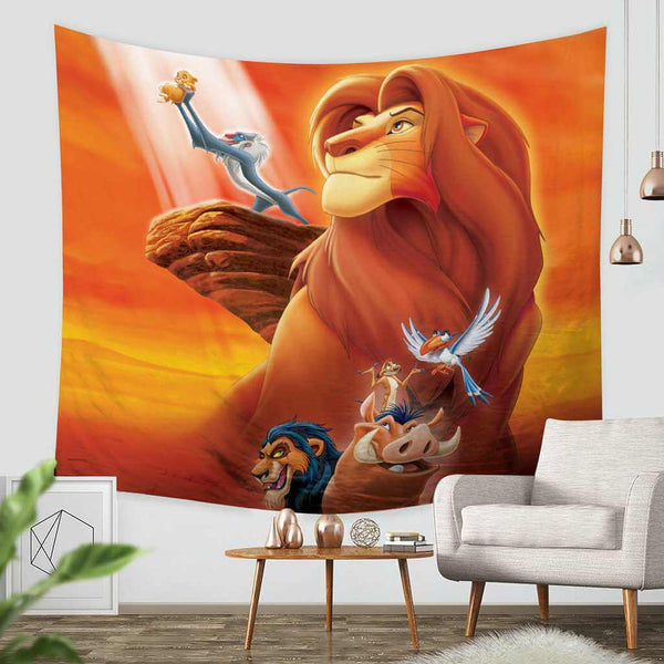 3D Custom The Lion King Tapestry Throw Wall Hanging Bedspread - Three Lemons Hometextile