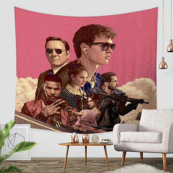 3D Custom Baby Driver Tapestry Throw Wall Hanging Bedspread - Three Lemons Hometextile