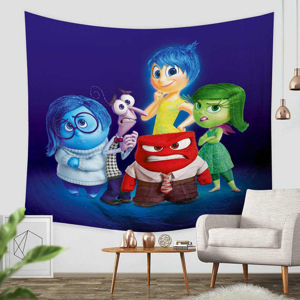 3D Custom Inside Out Tapestry Throw Wall Hanging Bedspread - Three Lemons Hometextile