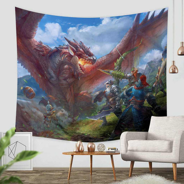 3D Custom Monster Hunter Tapestry Throw Wall Hanging Bedspread - Three Lemons Hometextile