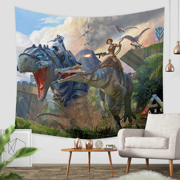 3D Custom Ark Survival Evolved Tapestry Throw Wall Hanging Bedspread - Three Lemons Hometextile
