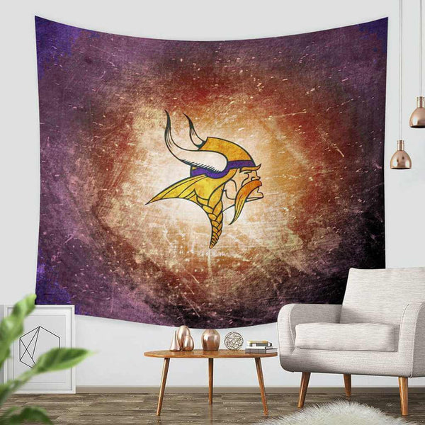 3D Custom Minnesota Vikings Tapestry Throw Wall Hanging Bedspread - Three Lemons Hometextile