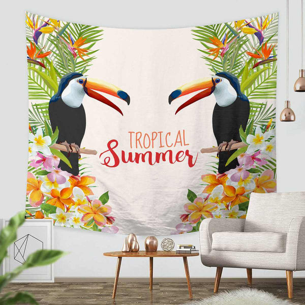 3D Custom Toucan Tapestry Throw Wall Hanging Bedspread - Three Lemons Hometextile