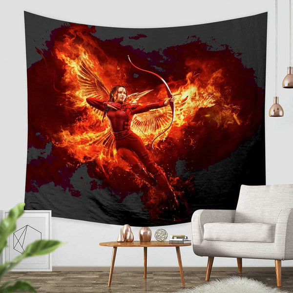 3D Custom The Hunger Games Tapestry Throw Wall Hanging Bedspread - Three Lemons Hometextile