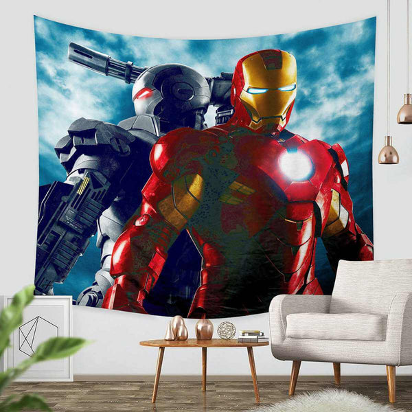 3D Custom Iron Man Tapestry Throw Wall Hanging Bedspread - Three Lemons Hometextile