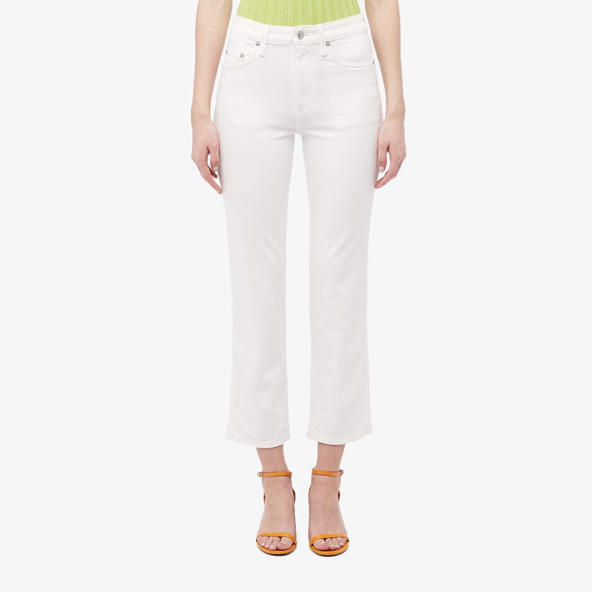 Slim Crop Jeans in Whiteout