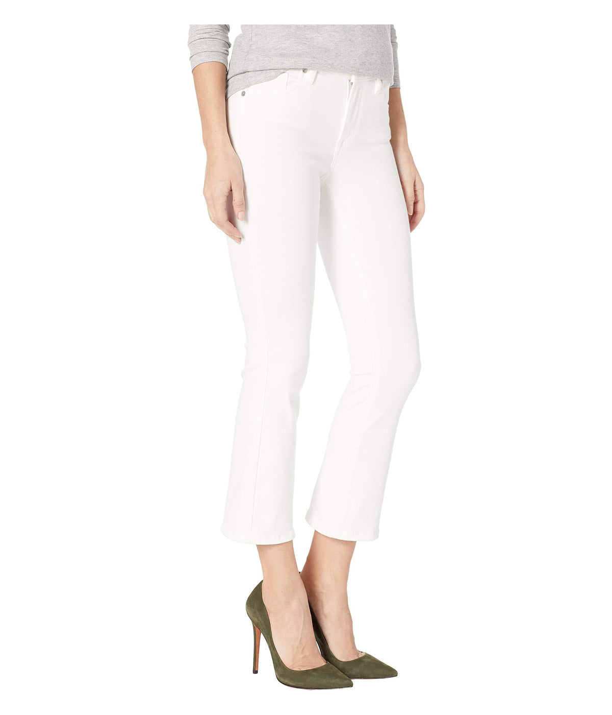 The Varick Cropped White Jeans in Great White