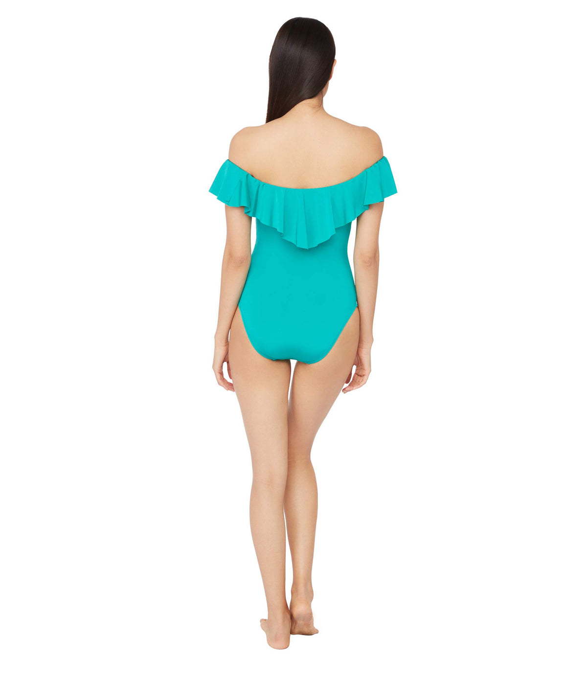 Studio Solid Off-the-Shoulder Bandeau One-Piece