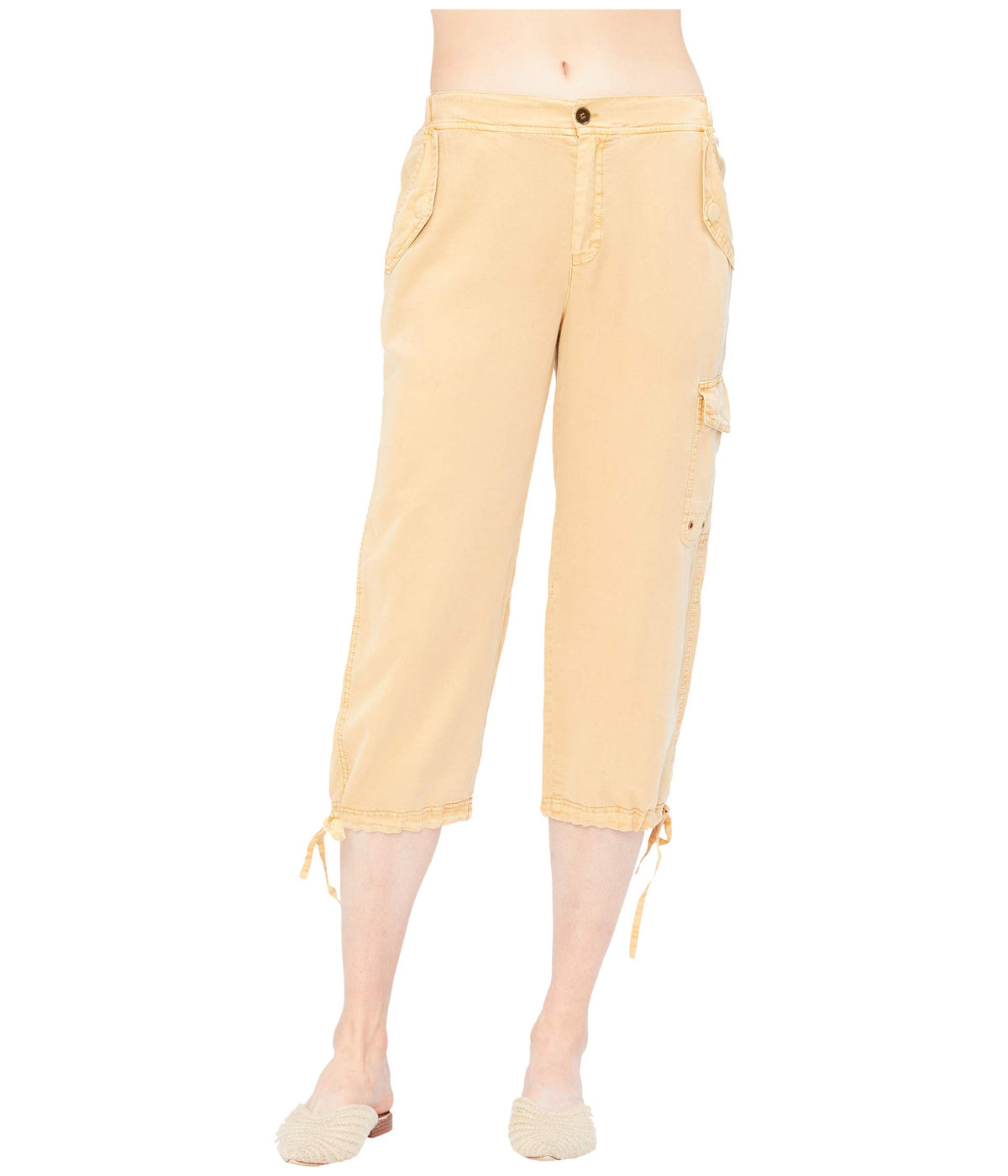 Warren Crop Pants in Soft Twill