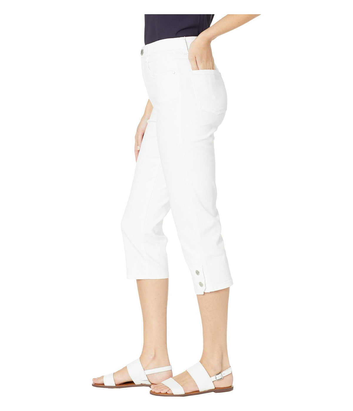 Soft Hues Denim Suzanne Capris in White