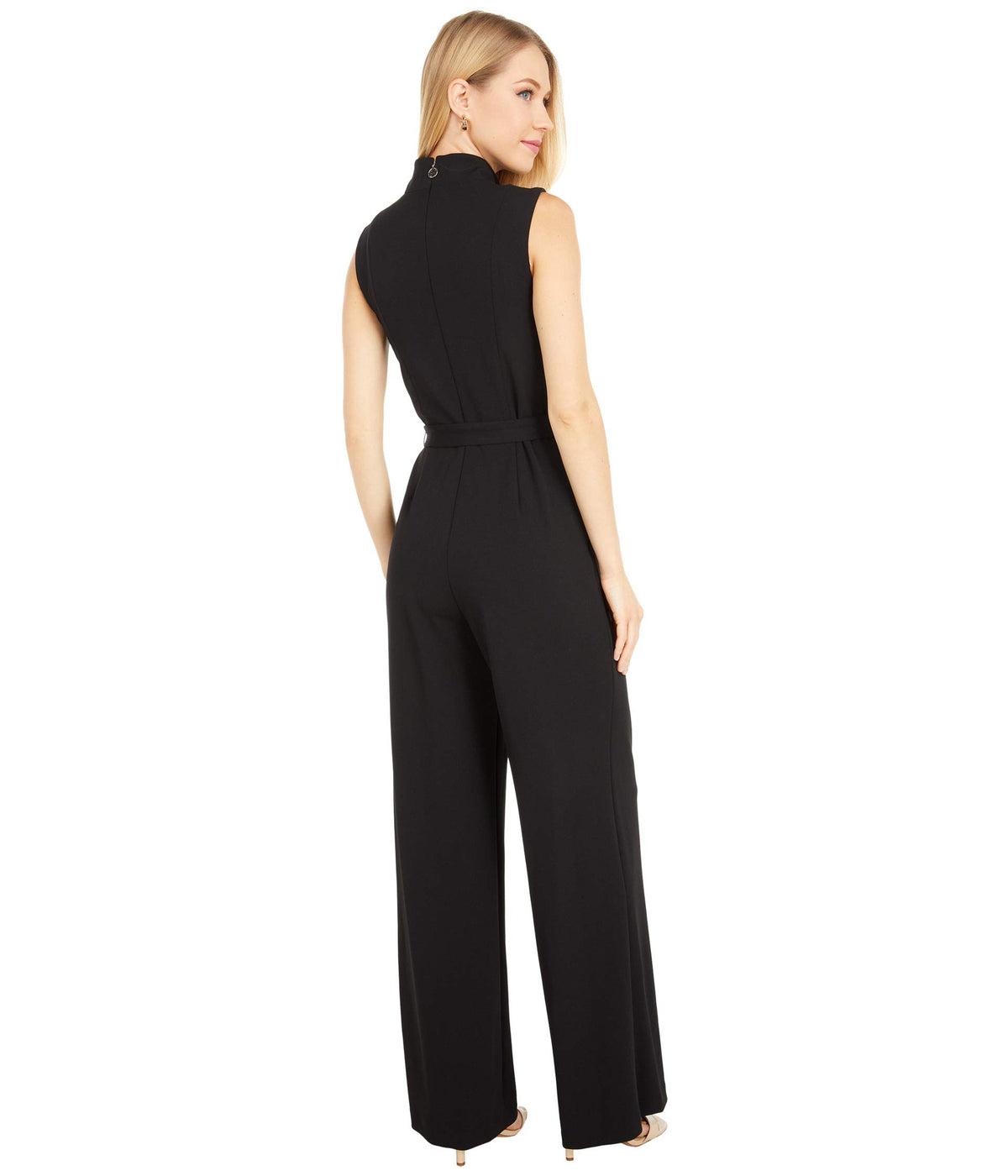Scuba Crepe Mock Neck Jumpsuit