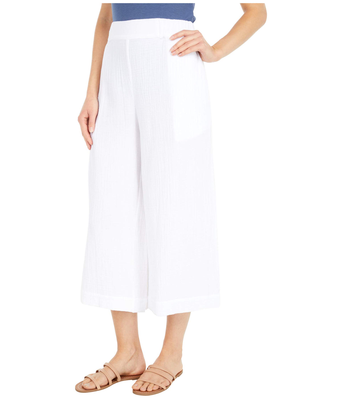 Pull-On Crop Pants in Double Gauze