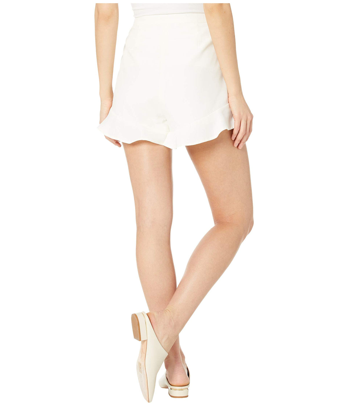 Lancer Satin Shorts with Ruffle Legs
