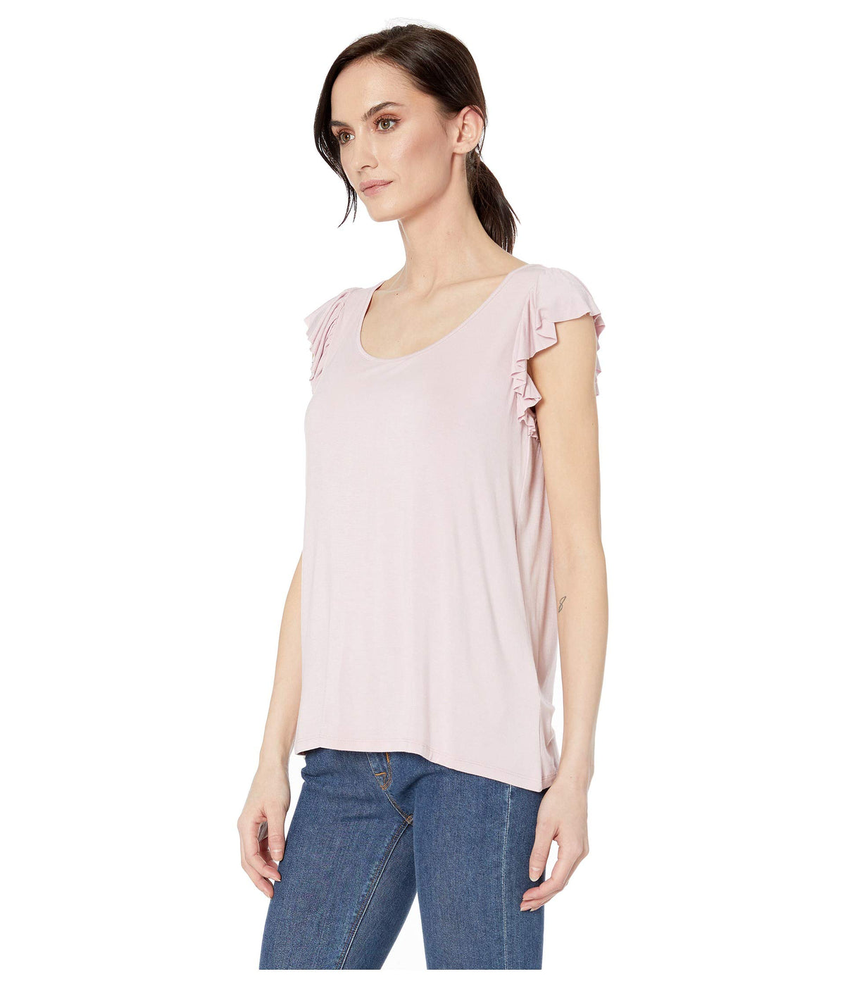 Soft Jersey Cami with Ruffle