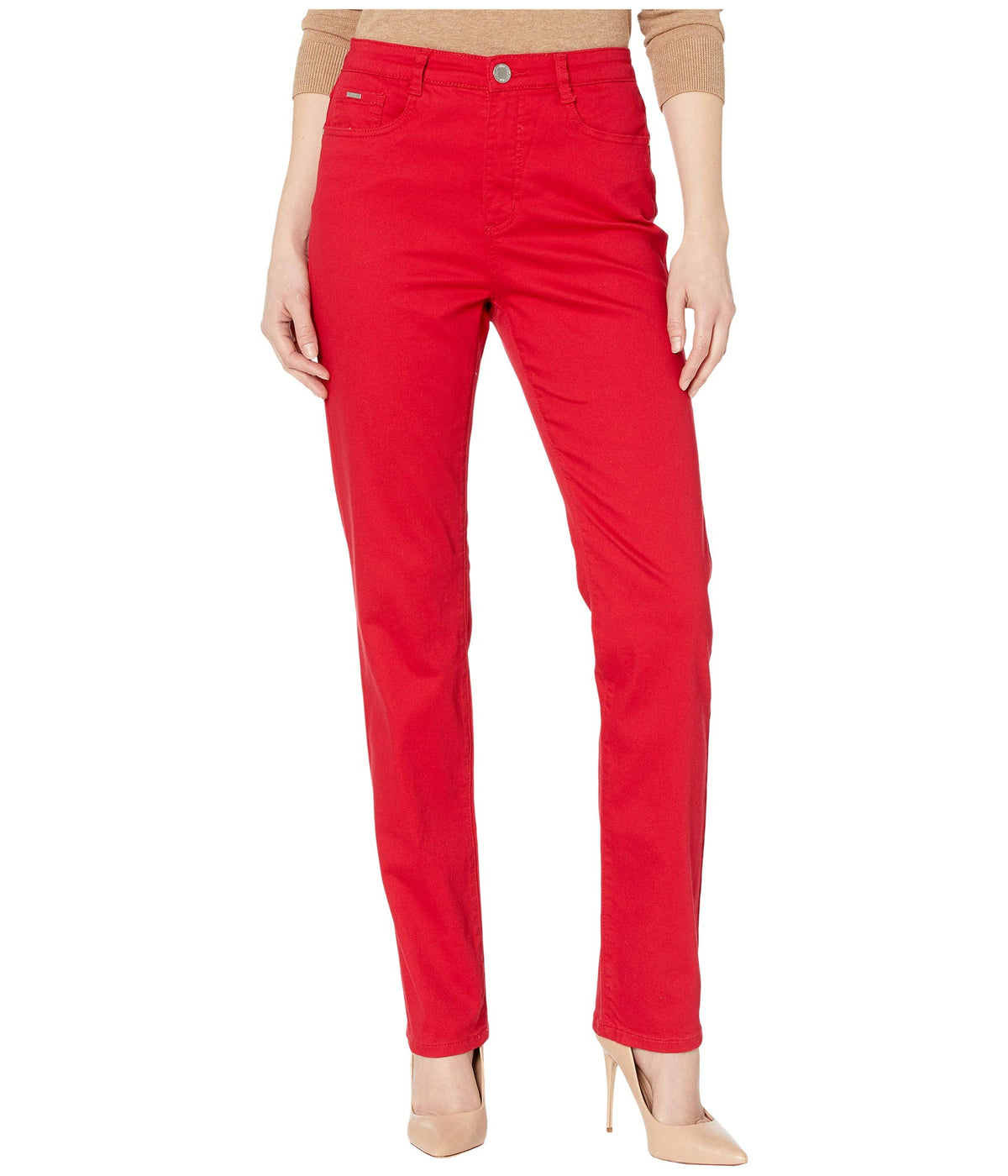 Sunset Hues Denim Suzanne Straight Leg in Red