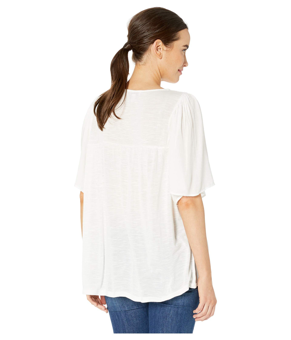 Solid Short Sleeve Top