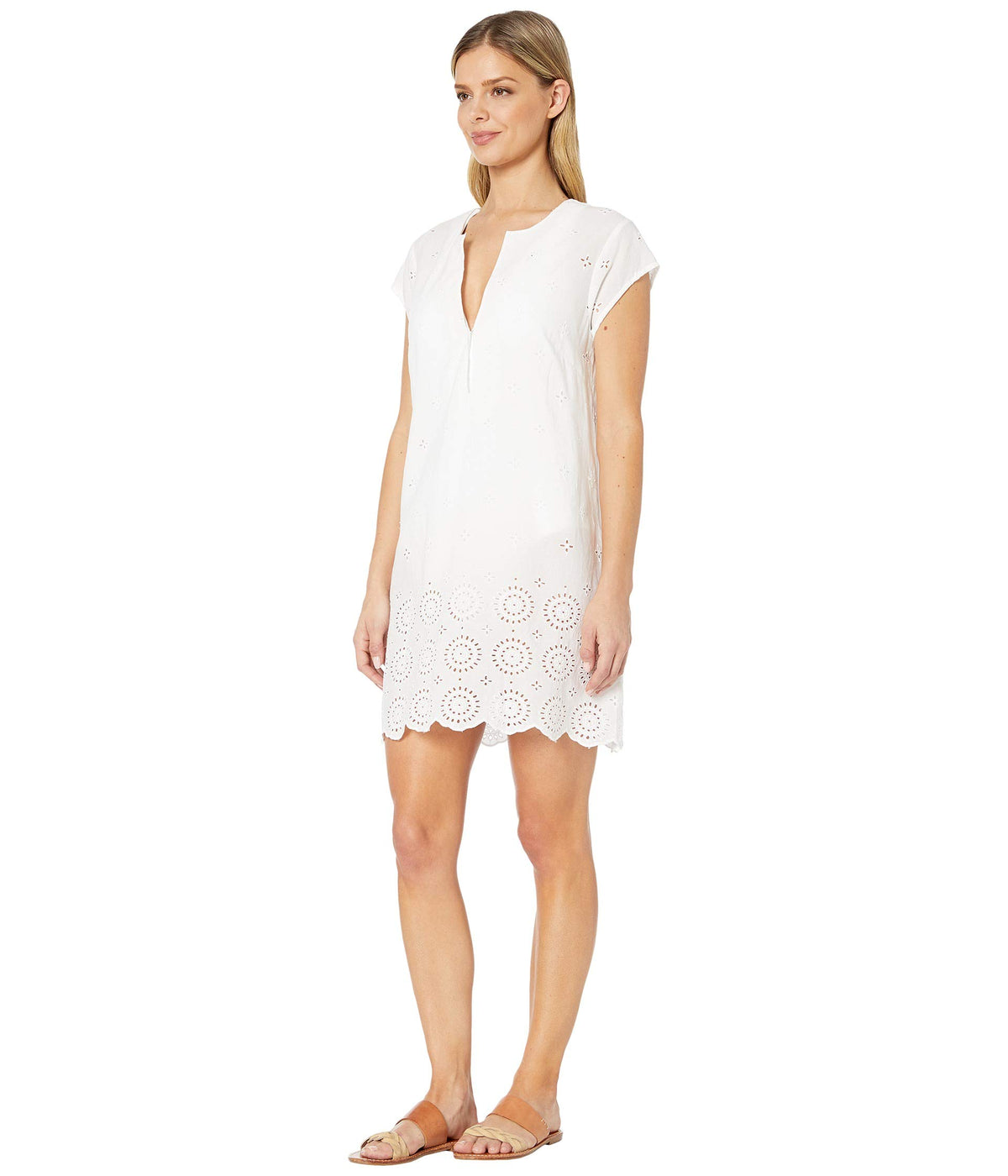 I've Got An Eye For You Embroidered Sheath Dress Cover-Up