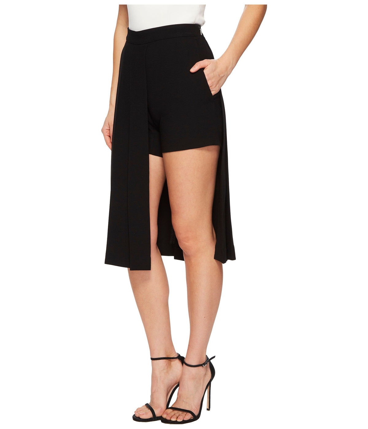Hybrid Pleated Panel Skirt/Shorts
