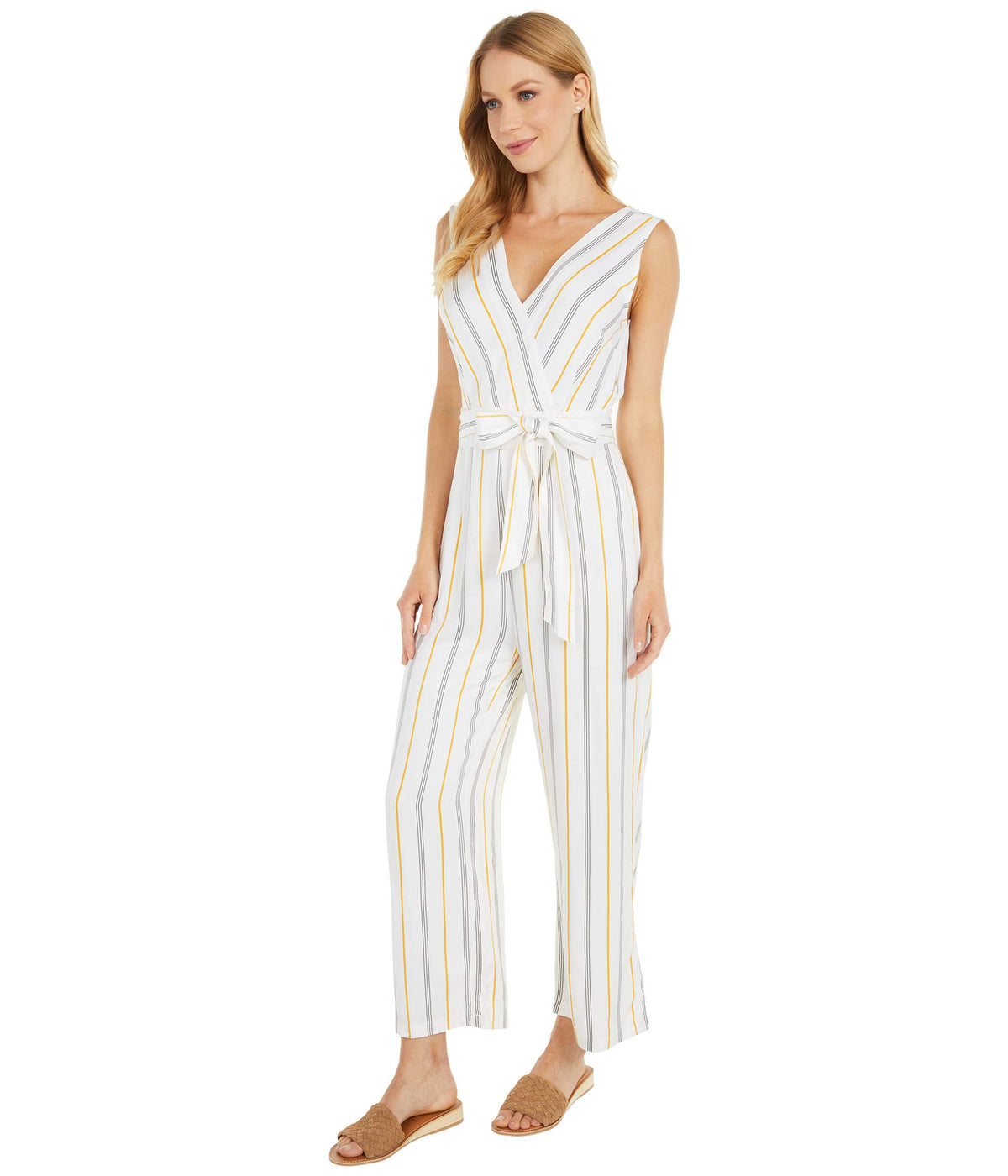 Know Your Stripe Printed Rayon Jumpsuit