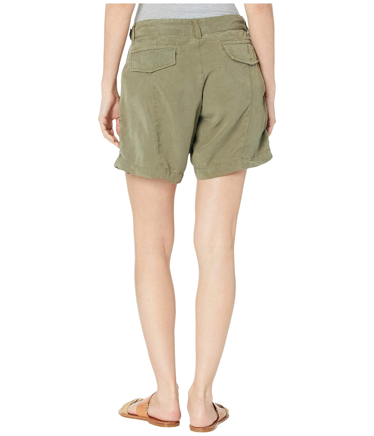Washed Tencel Scout Shorts with Solid Twill Tape Trim
