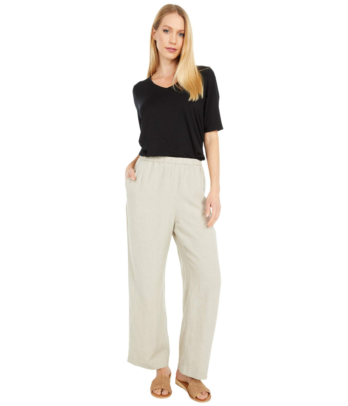 Ankle Length Straight Leg Pants