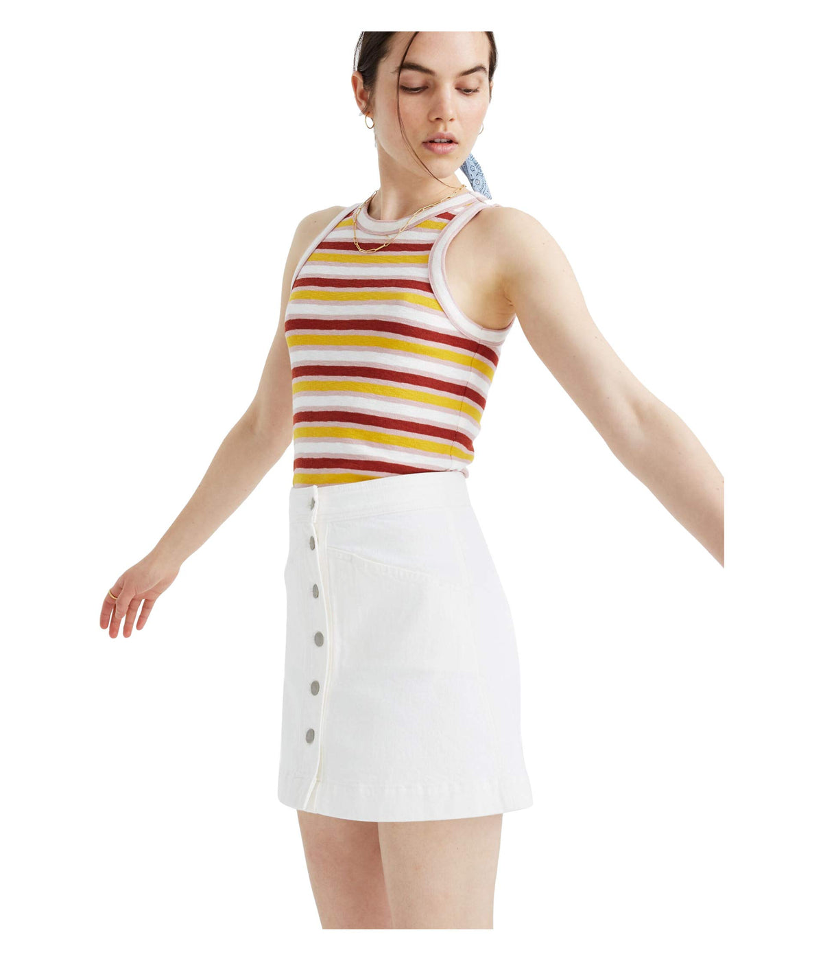 White Denim Metropolis Skirt