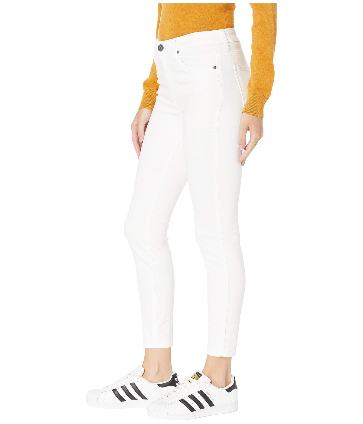 Donna High-Rise Ankle Skinny Jeans in Optic White