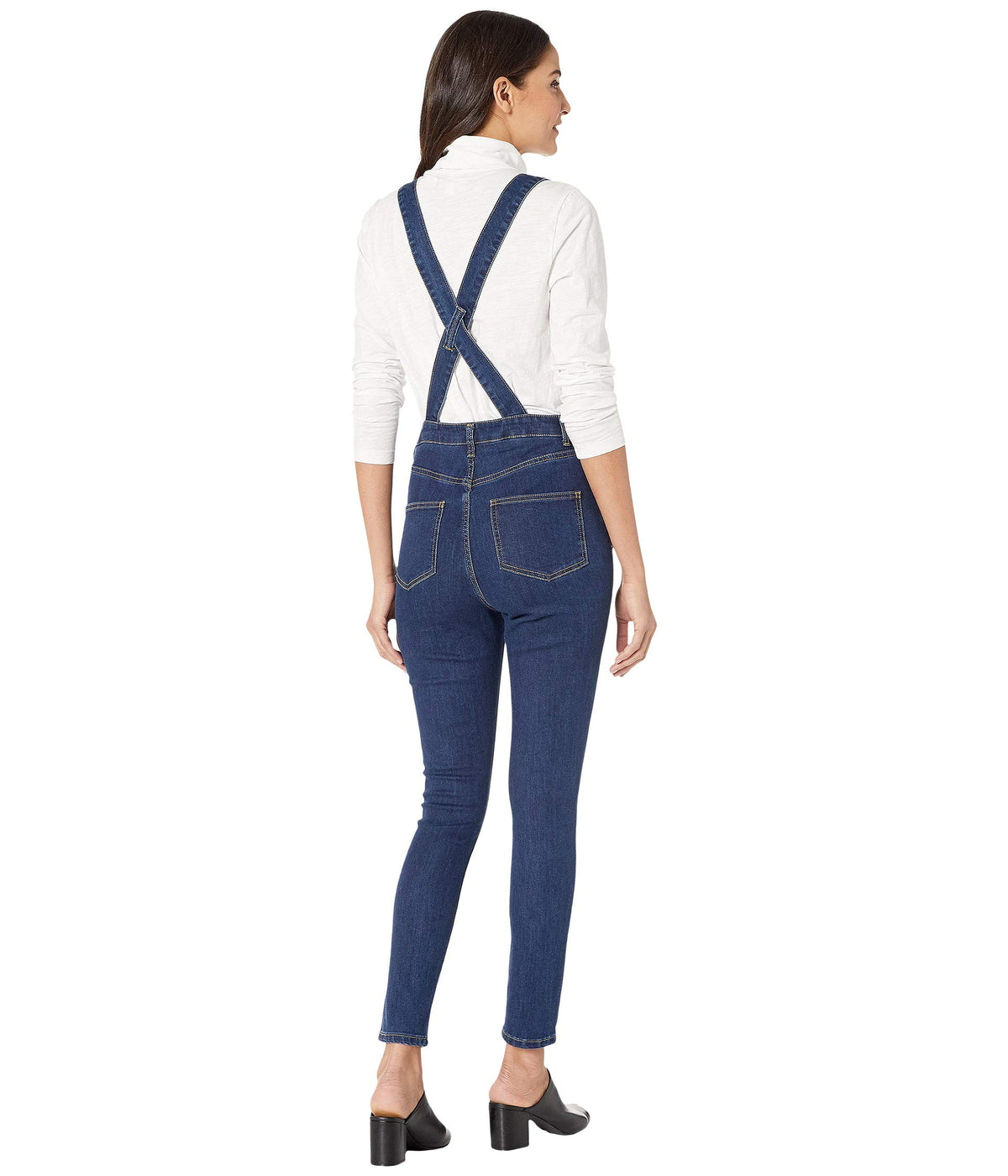 High-Rise Skinny Overalls
