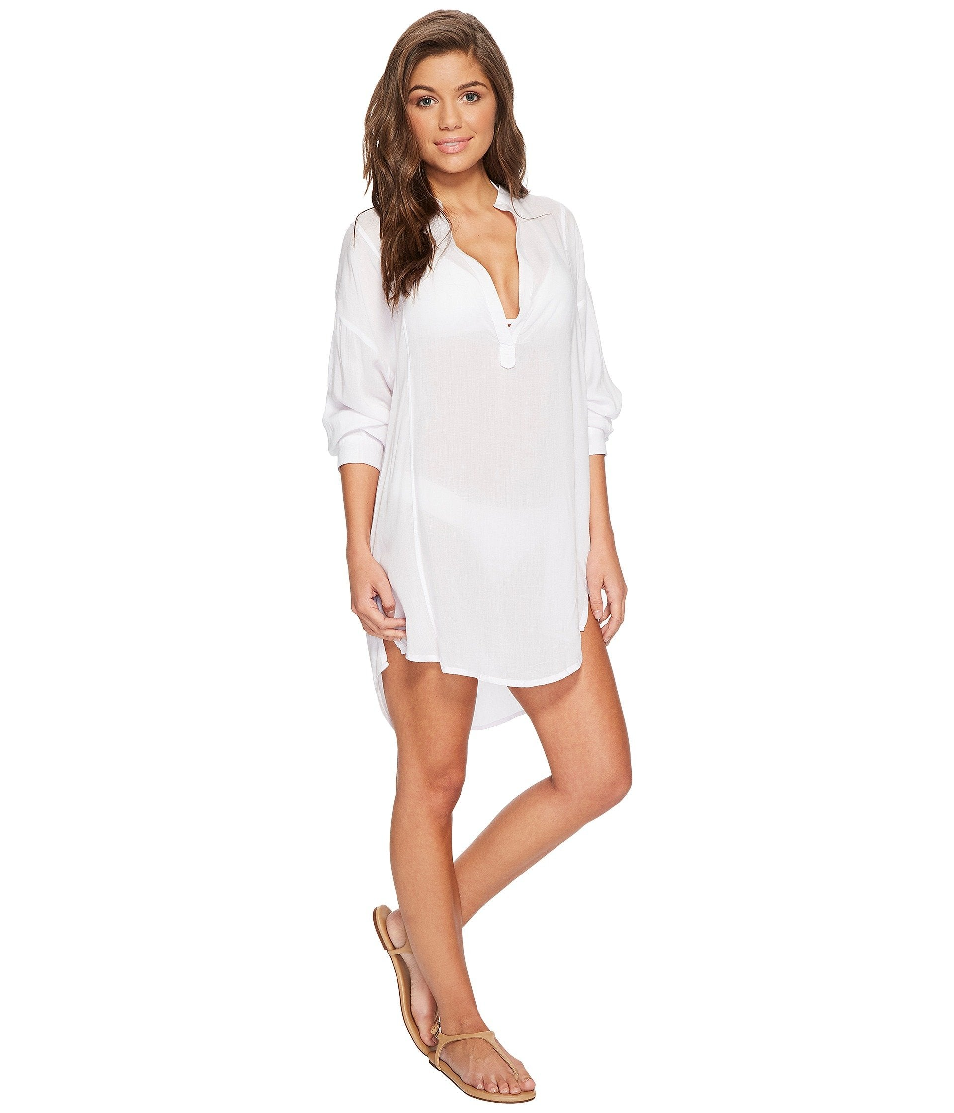 Cannes V-Neck Tunic Cover-Up