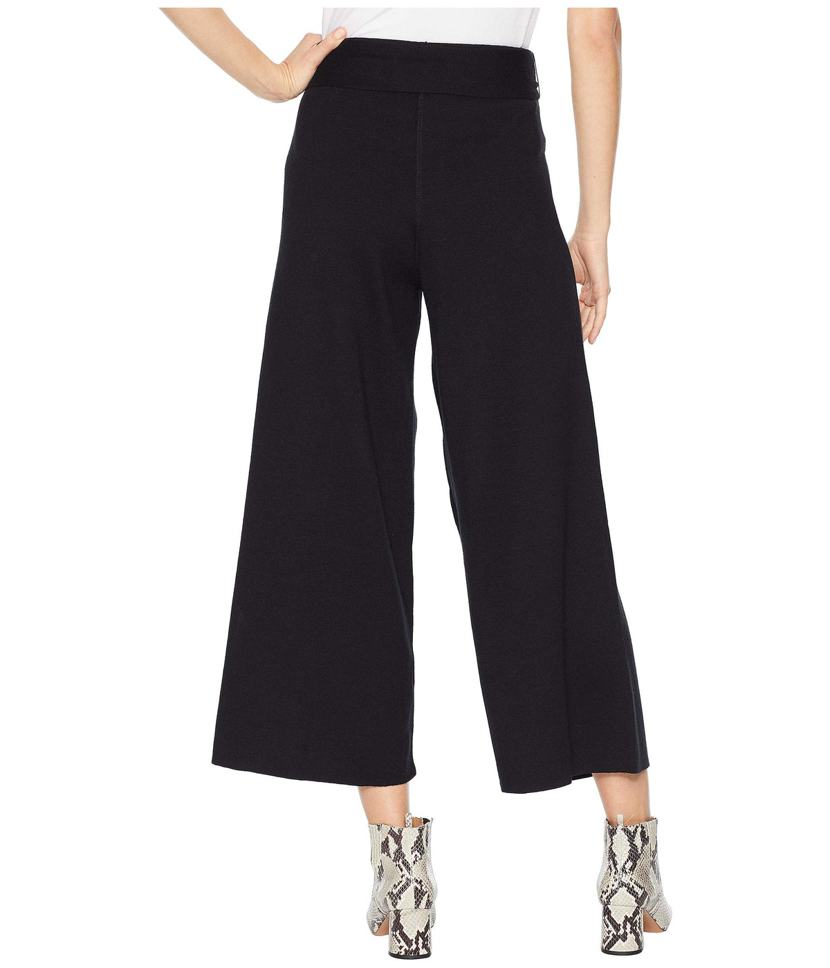 Luxe Cotton Blend Culottes with Tie