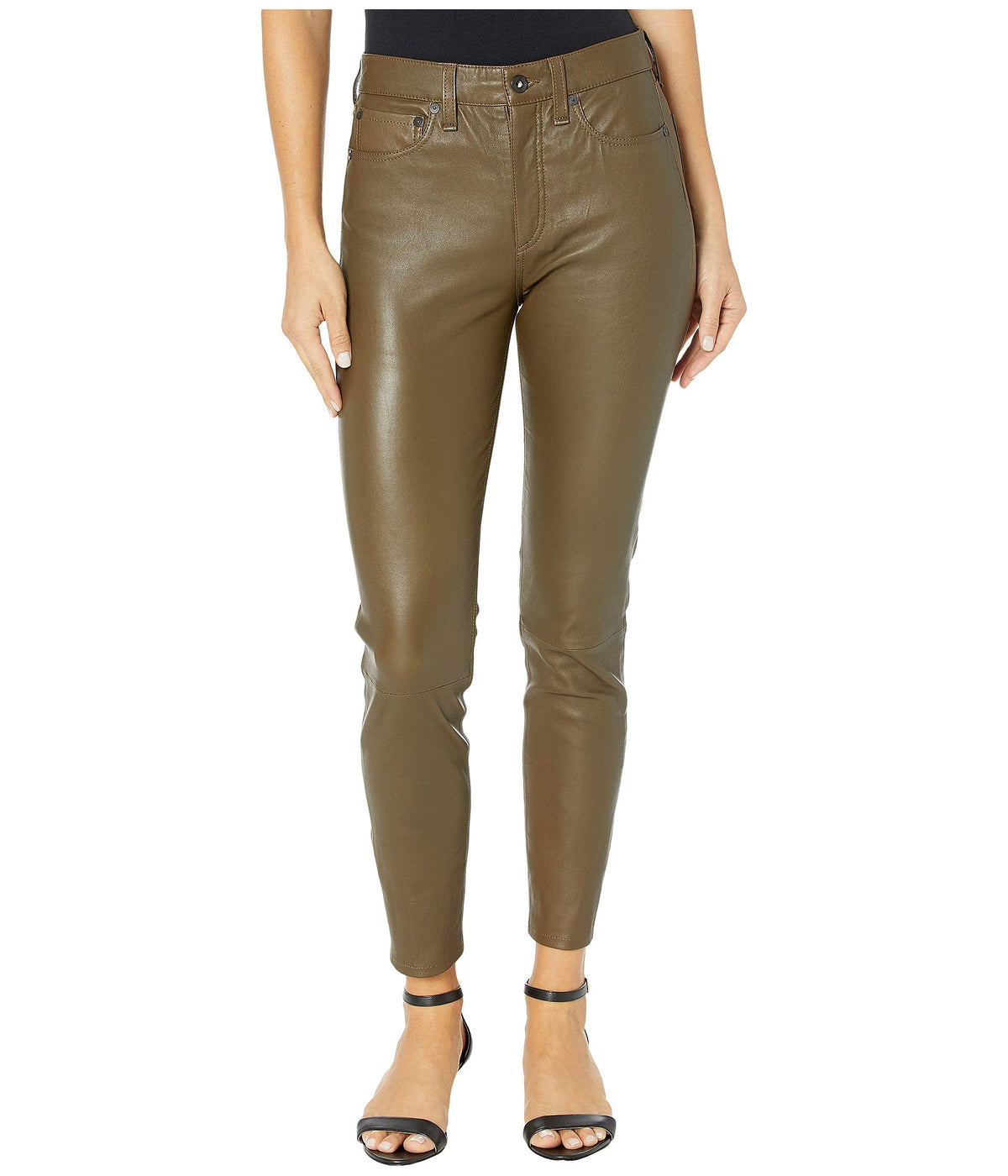 Nina High-Rise Ankle Skinny Leather Pant