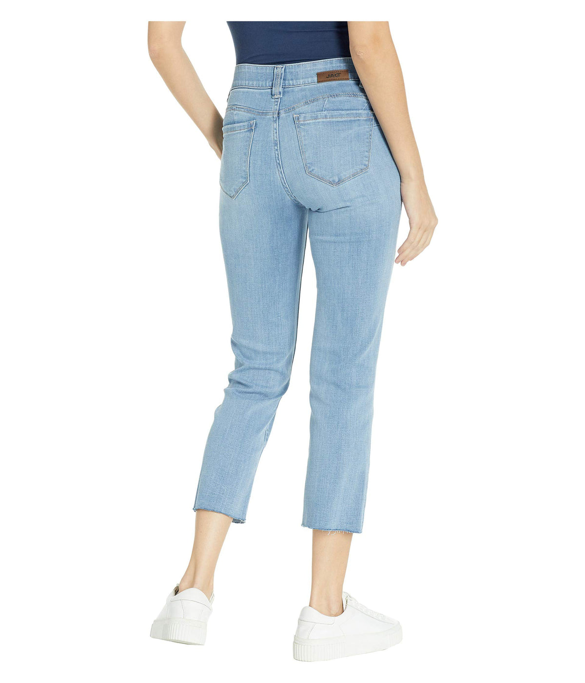 Ruby Straight Denim Crop Pants in Island Blue