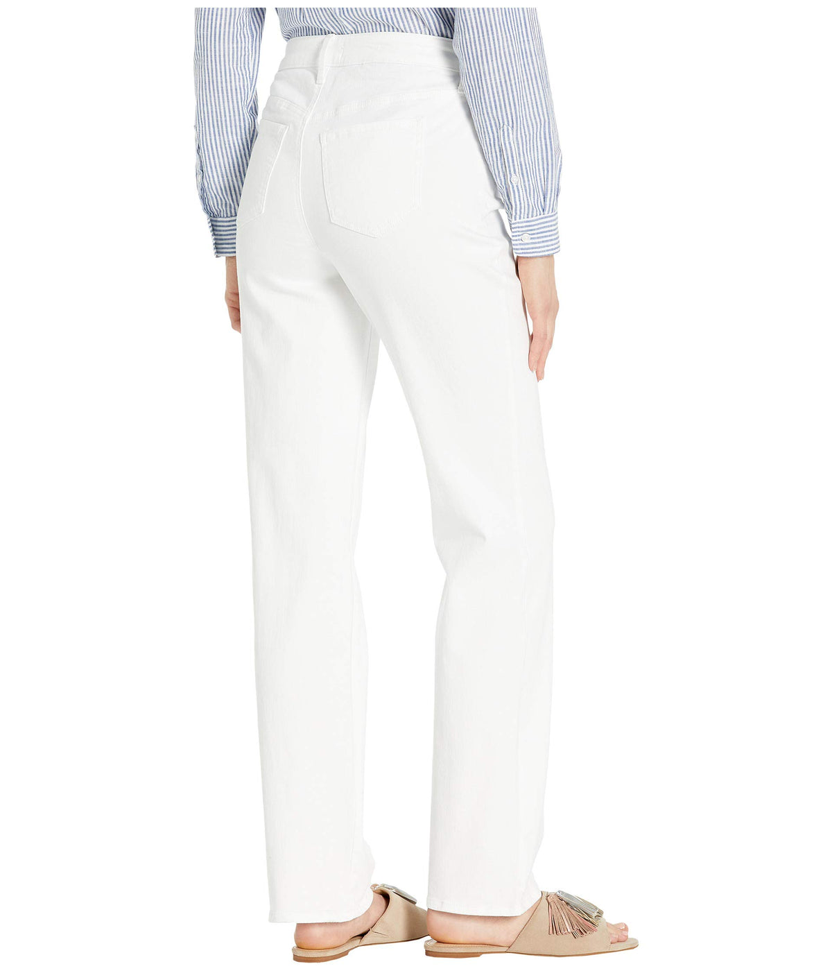 Relaxed Straight Jeans in Optic White