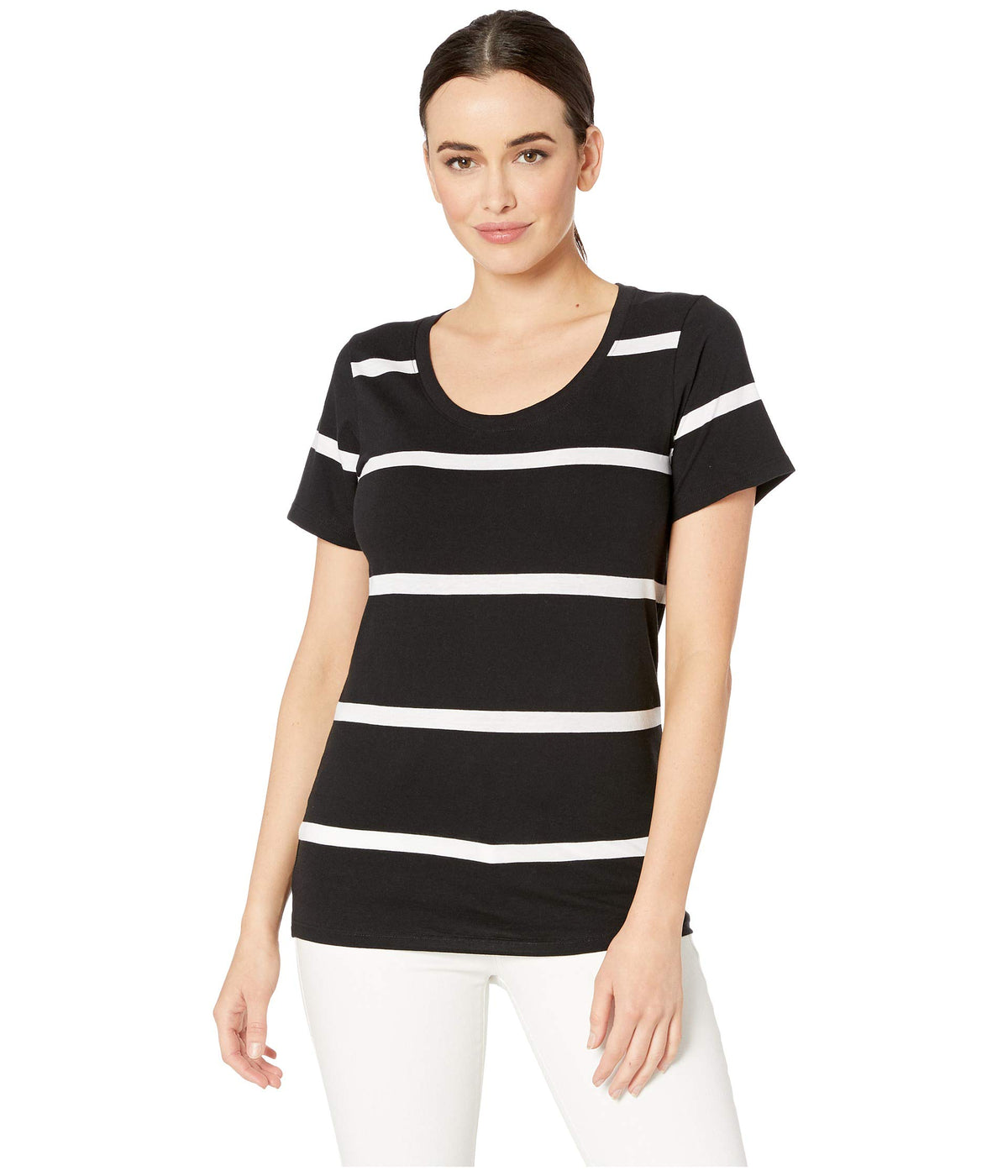 Short Sleeve Pima Stripe Tee