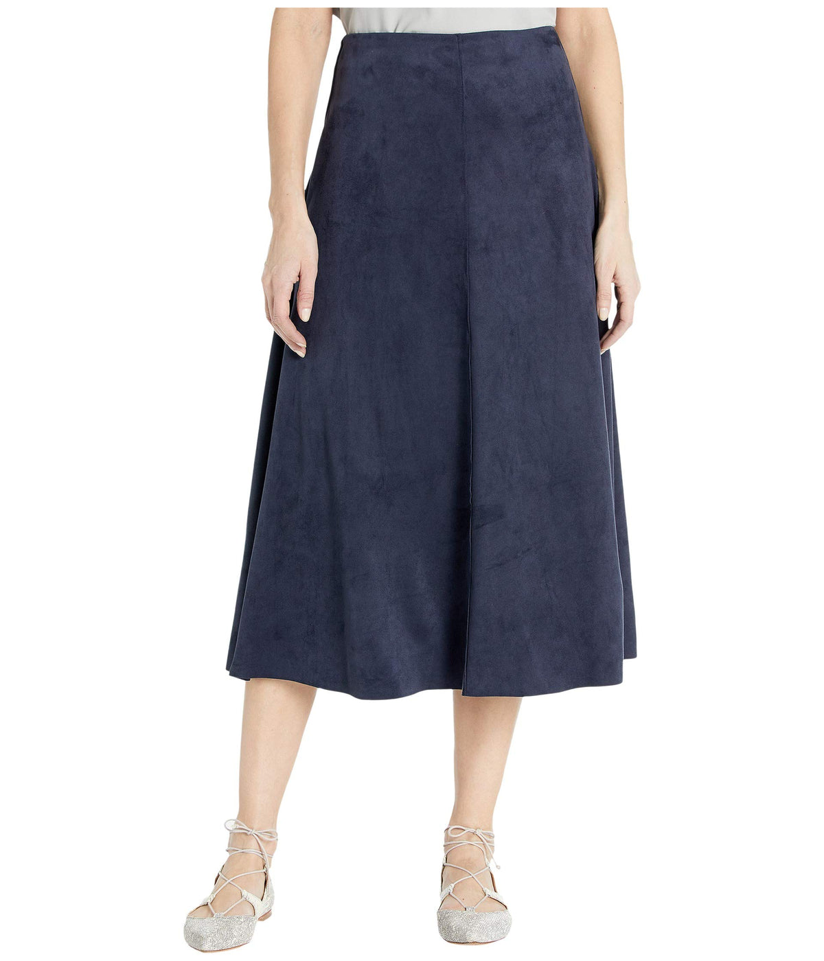 Dock Skirt in Summer Vegan Suede