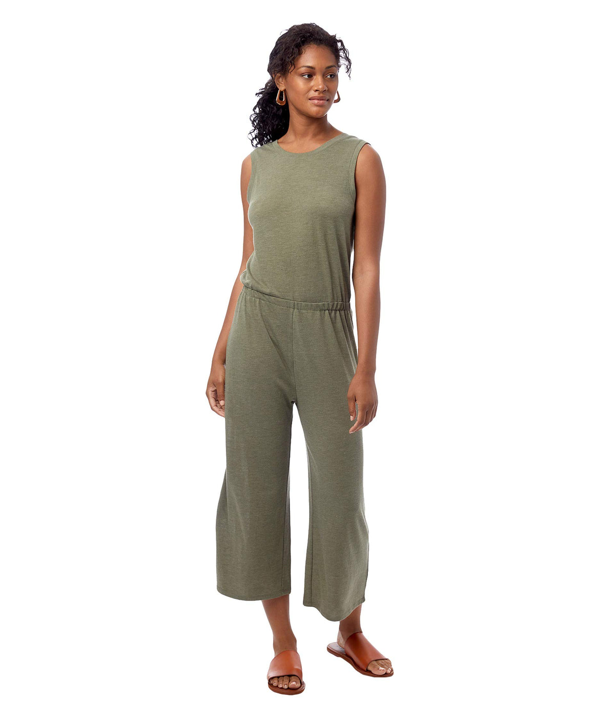 Harper Sleeveless Cropped Jumpsuit