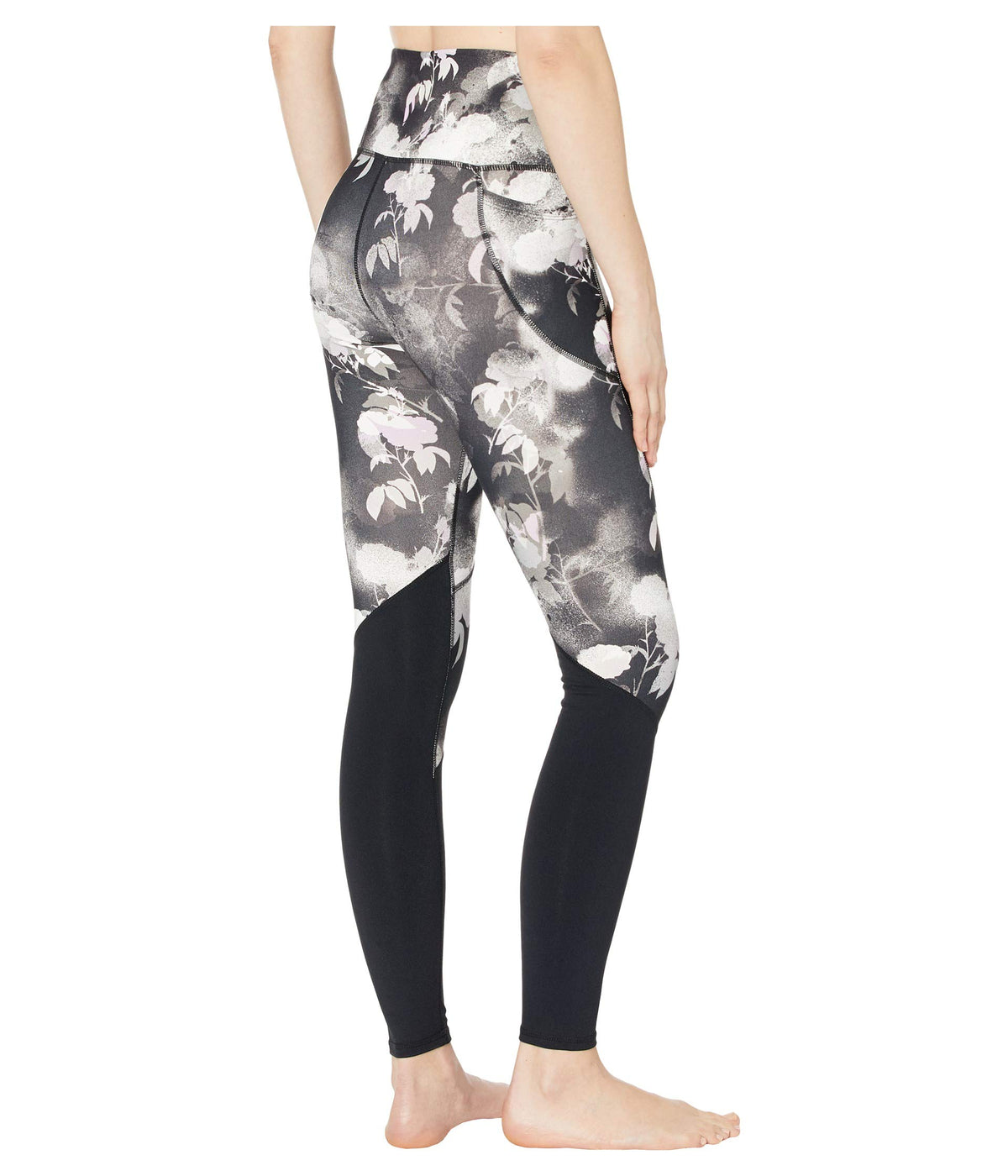 Ink Floral Printed High-Waist Leggings
