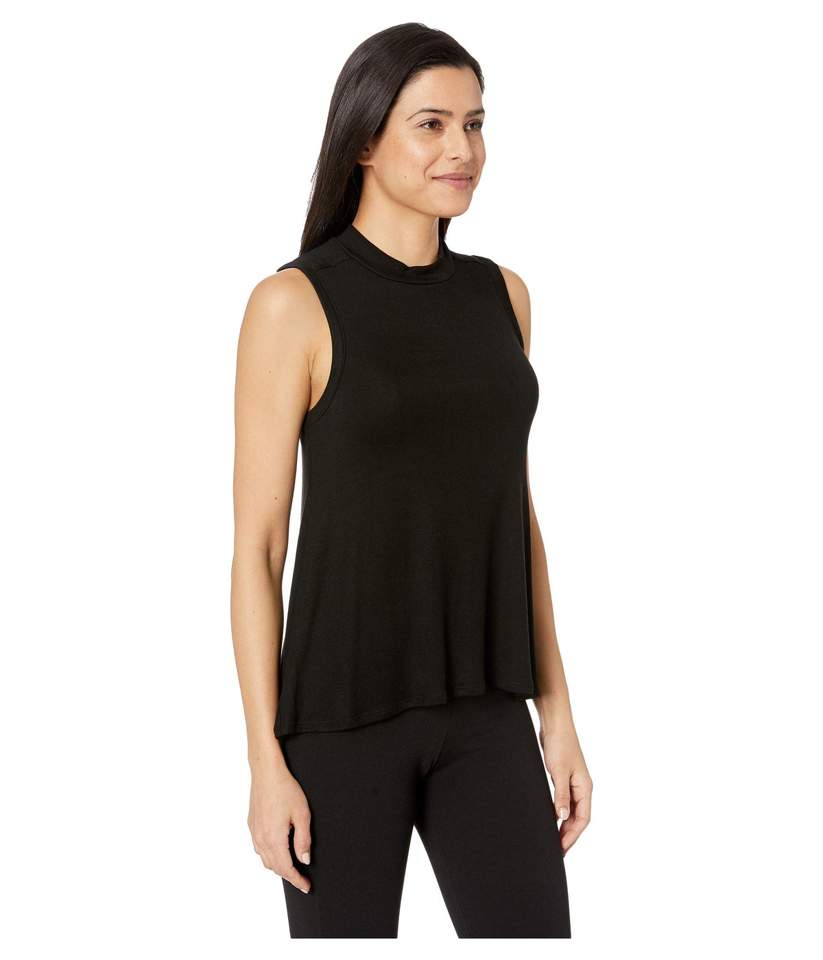 Luxe Rib Sleeveless Mock Tank Top