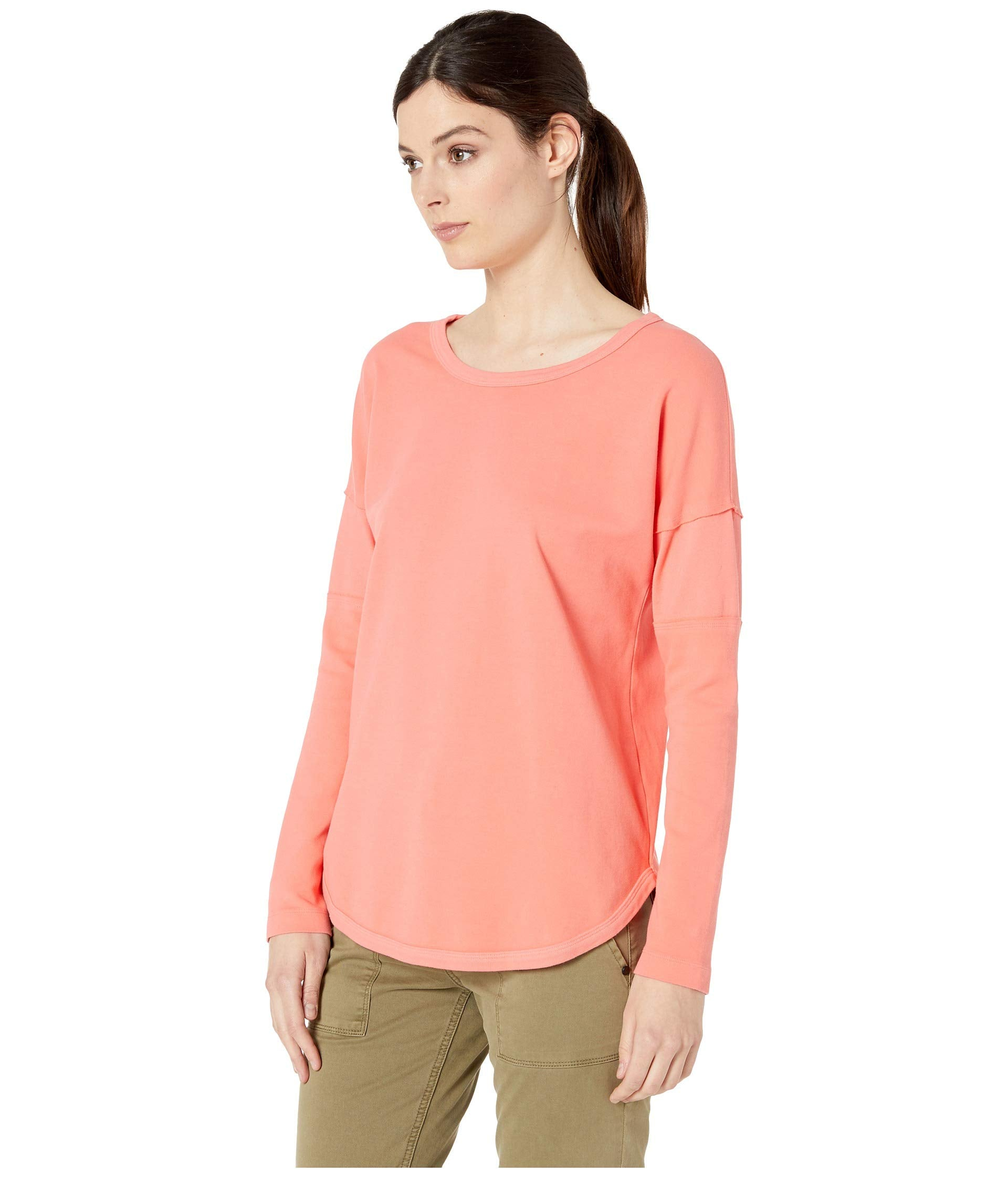 Cotton Interlock Crew Neck Pullover with Back Neck Lacing