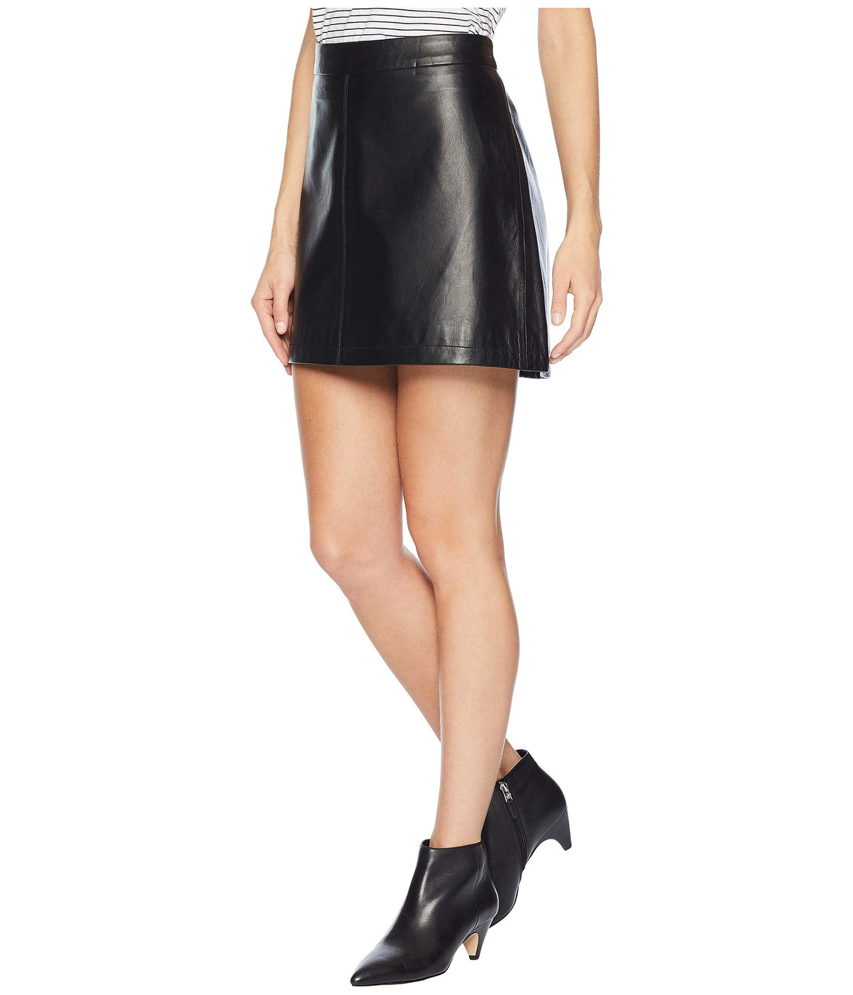 Marrie Leather A-Line Skirt