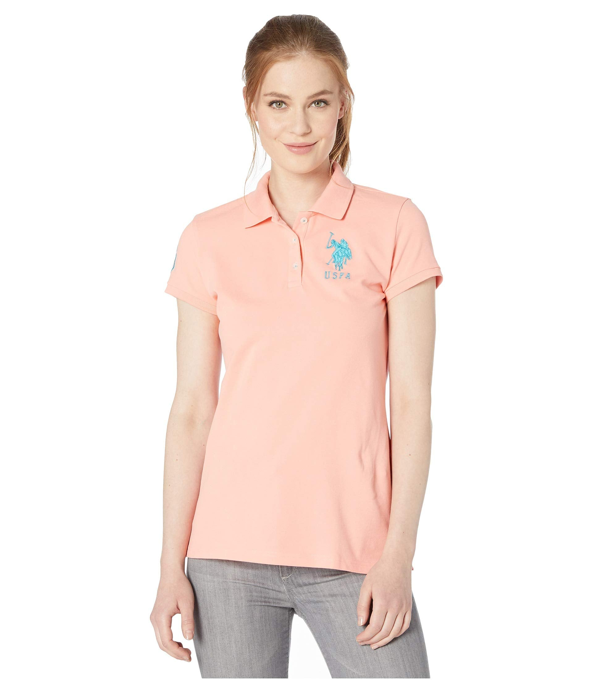 Neon Logos Short Sleeve Polo Shirt
