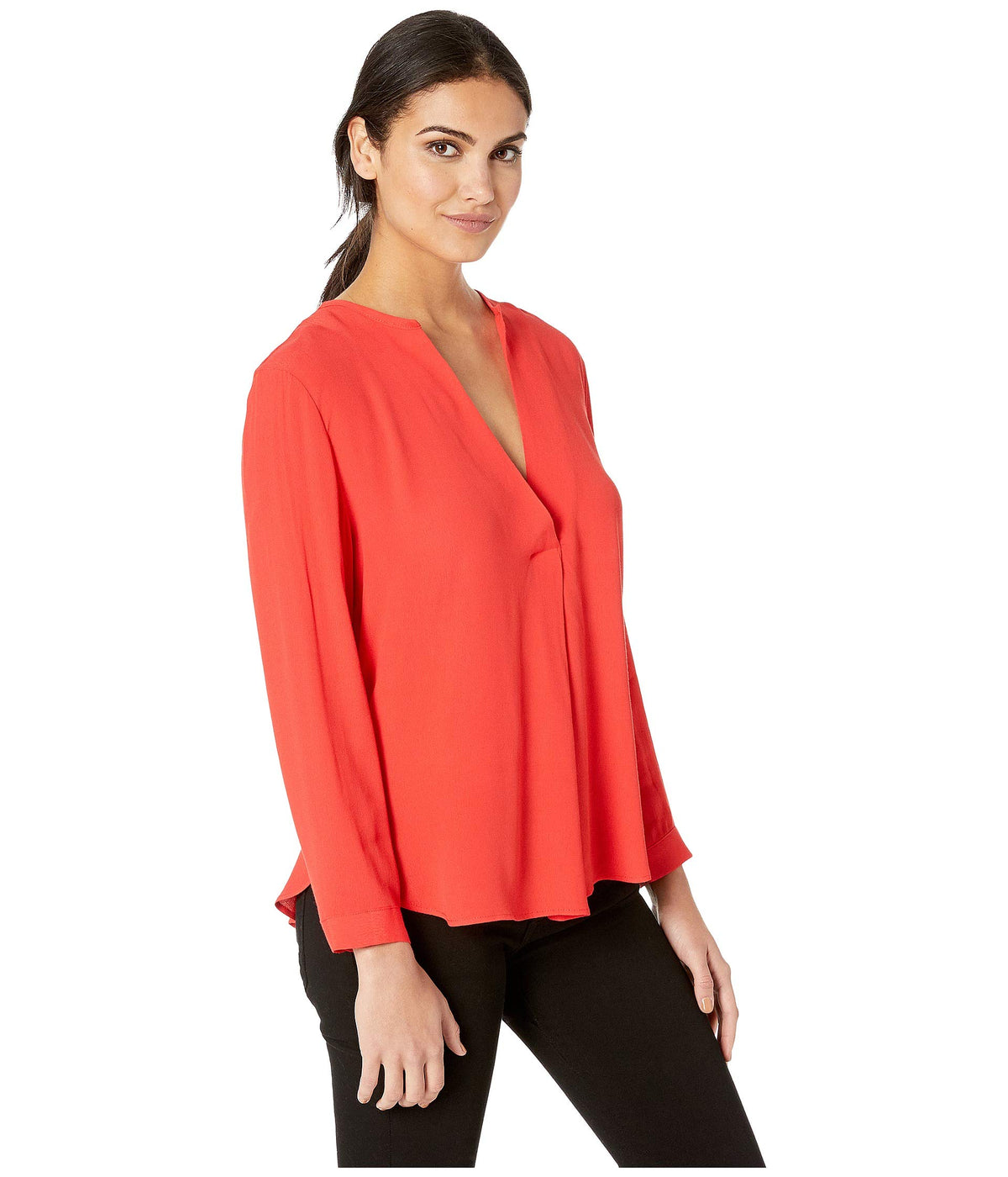 Deep Placket Blouse