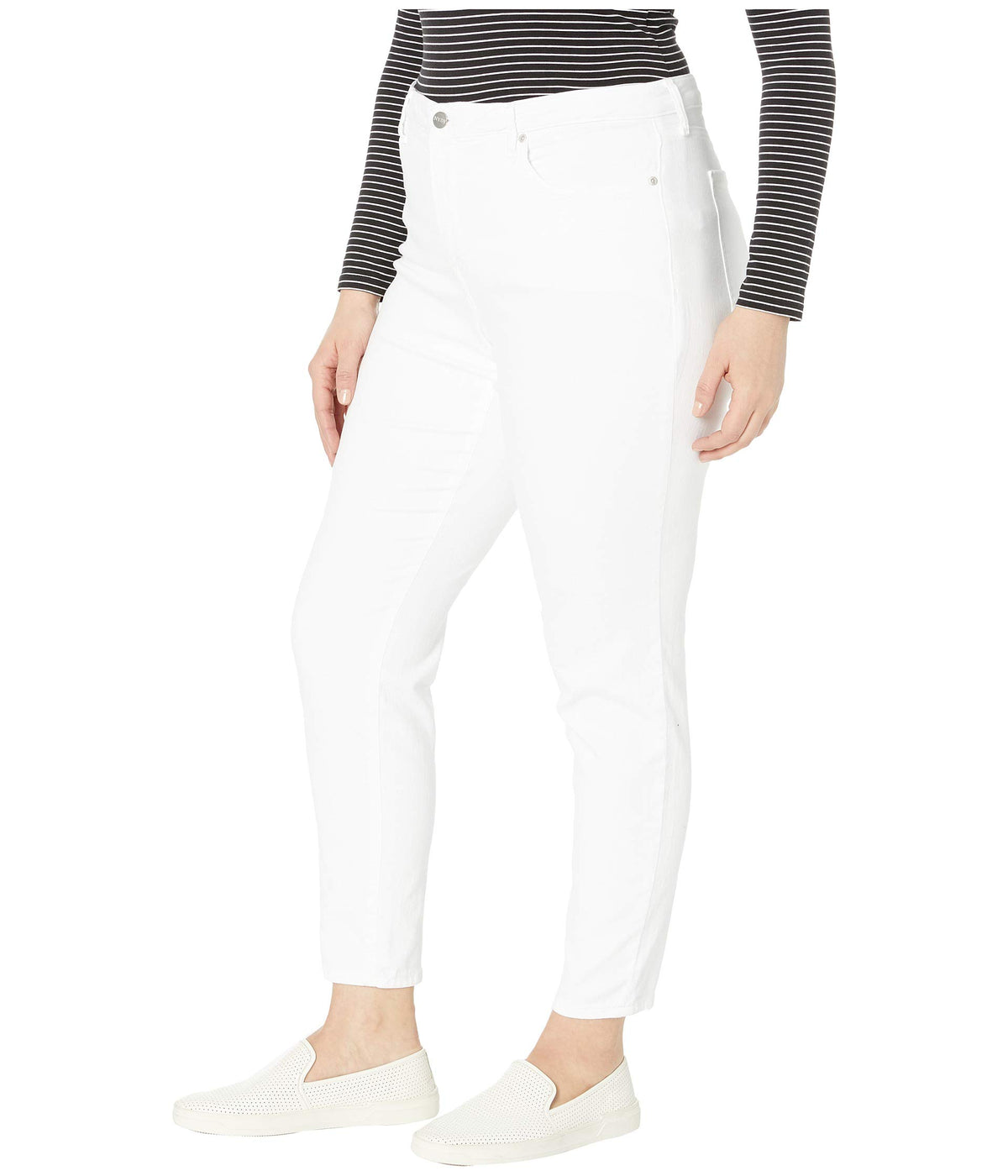 Plus Size Ami Skinny in Optic White