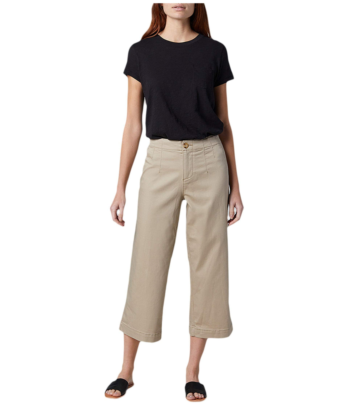 Alicia Wide Leg Twill Crop