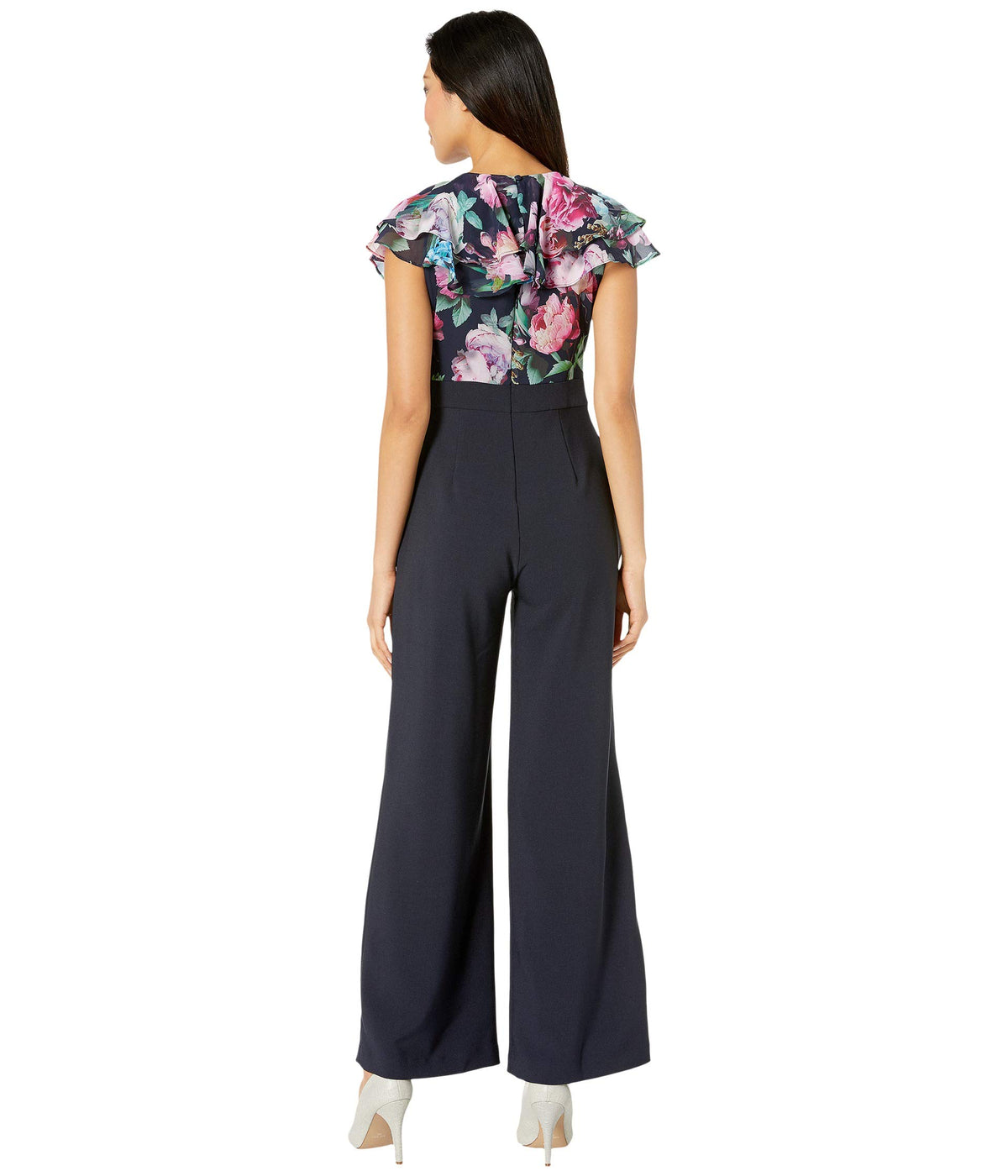 Floral Ruffle Top Jumpsuit