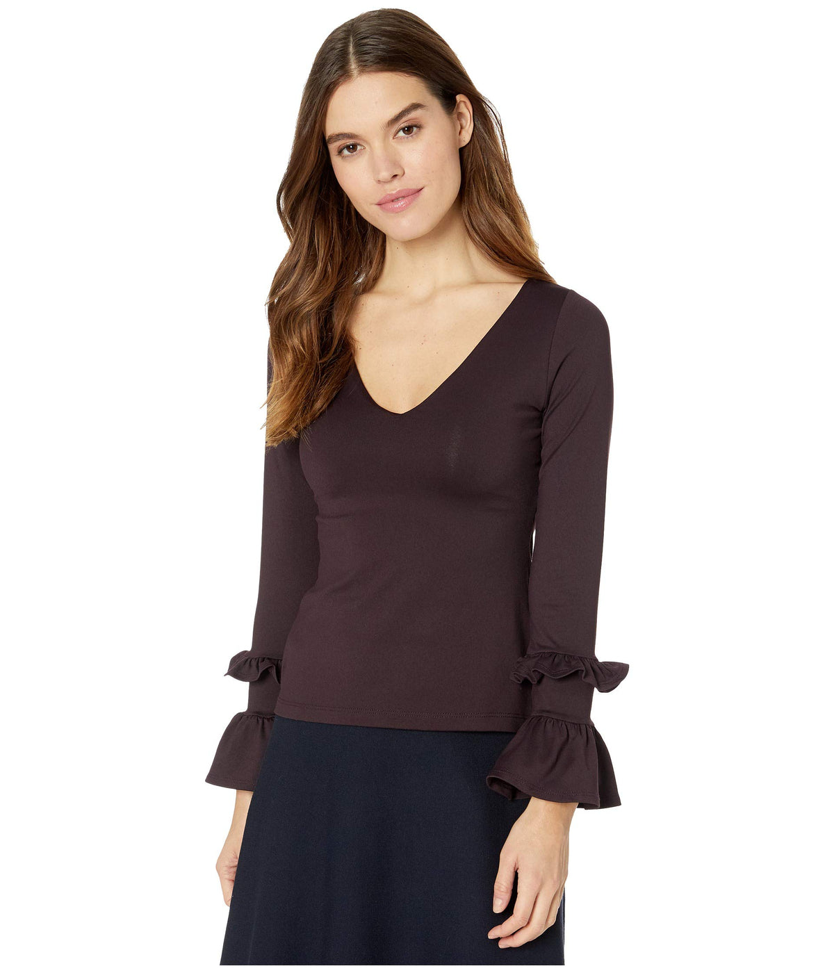 Long Sleeve Double Ruffle Top